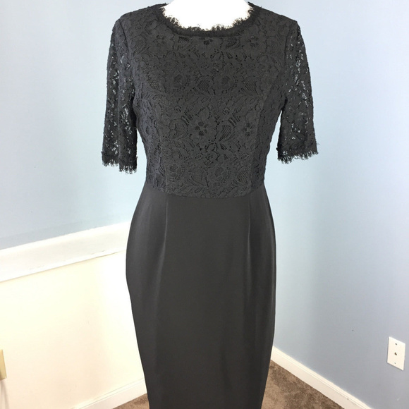 b0b8fda6263f Nue by Shani Dresses | S 4 Black Sheath Lace Dress Cocktail | Poshmark
